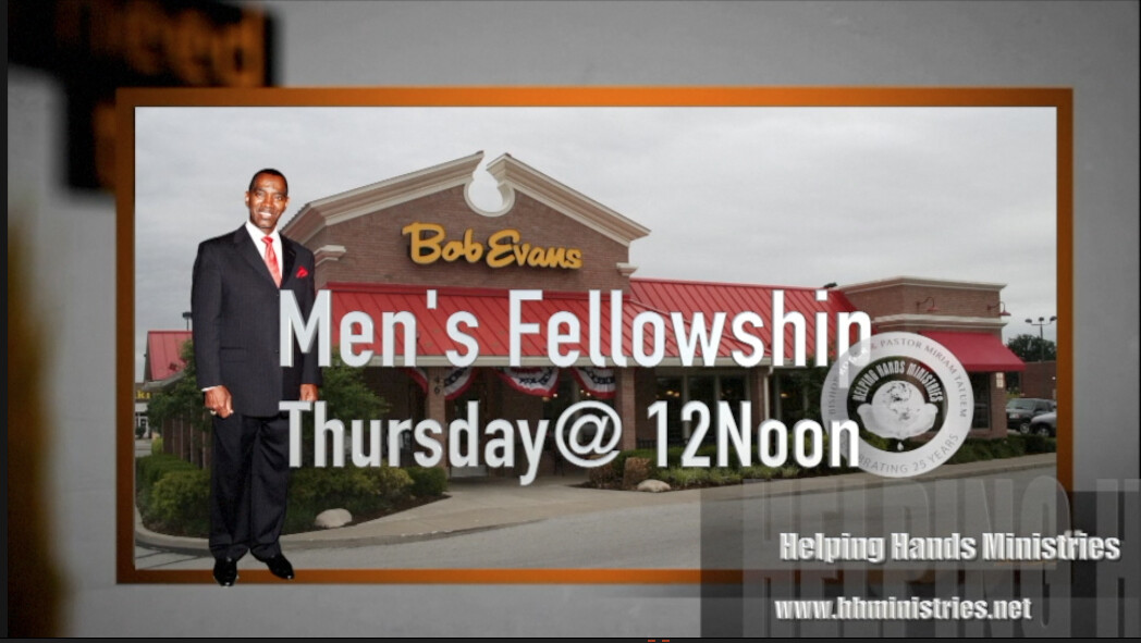 Men's Fellowship- Bob Evans-12noon